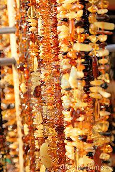 Amber jewelry by Konstantins Visnevskis, via Dreamstime