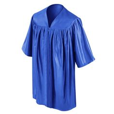 CHILD'S ROYAL BLUE CHOIR ROBE  • Royal Blue Premium Shiny Tricot Fabric  • Sleek, non-see-through shiny finish  • Reinforced stitching throughout the child's choir robe • Strong center pleats on the front of the kids choir robe • Comfortable darted yoke giving the robe strong structure • Sturdy zipper construction with a color matching royal blue zipper • Each Royal Blue Child's Choral Robe comes packaged in its own poly bag