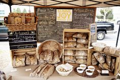 Farmer's Market Sunne Joy Bread Co. Bakery Display  in downtown Pensacola #eatlocal