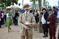 THE CHAP OLYMPIAD: Britain's most eccentric sporting event since 2005,it is a sporting contest for the unathletic, unfit and the exceptionally well-dressed. Individual events test essential Chappish skills and points are awarded for panache, archly-raised eyebrows and maintaining an immaculate crease in one's trousers. Immaculately dressed and sporting the finest selection of side burns and tashes, this really is a sight to behold.