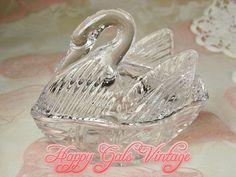 Crystal Swan Trinket Box Clear Crystal Swan Trinket Box