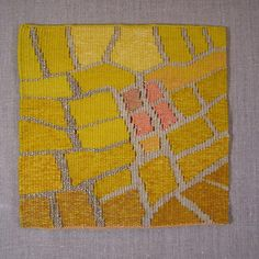 Just finished this small tapestry for the American Tapestry Alliance 'Crossroads' exhibit. #tapestry #sausalito #wool #loom #icb_winter_open_studios #art #artist #weaver #icbartists #embroidery #design