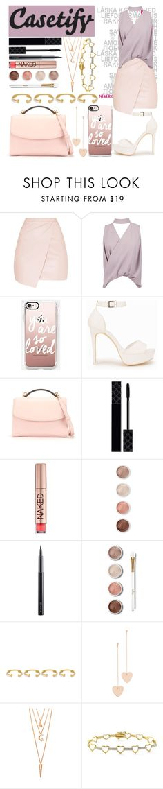 """Sin título #163"" by alita210100 ❤ liked on Polyvore featuring Boohoo, Casetify, Nly Shoes, Cynthia Rowley, Gucci, Urban Decay, Terre Mère, MAC Cosmetics, Joanna Laura Constantine and Cloverpost"