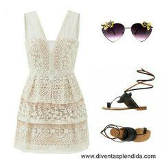 #outfit  #vestito  #gonna  #pizzo Segui 💖💖💖 www.diventasplendida.com   💖💖💖