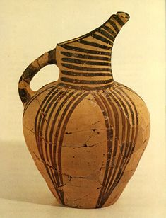 BC, Ayios Onouphrios, Early Minoan Ware, Iron Red Clay Slip, painted parallel line Ancient Greek Art, Ancient Greece, Ceramic Pottery, Ceramic Art, Minoan Art, Bronze Age Civilization, Mycenaean, Greek Pottery, Greek History