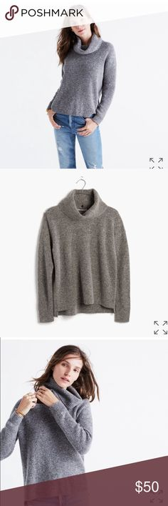 New Madewell turtleneck PRODUCT DETAILS An innovative pullover dreamed up by our designers, this supercozy sweater sports a removable turtleneck (consider it a two-in-one situation). Button it off on those days when you need to make a quick change.    True to size. Wool/cotton/nylon Madewell Sweaters Cowl & Turtlenecks