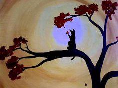 Sunshine Meow 20 x 16 canvas painting $50.00