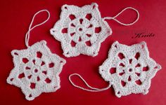 Free Simple Beginners Crochet Snowflake patten