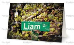 A personal favorite from my Etsy shop https://www.etsy.com/ca/listing/244403350/personalized-card-liamboy-name