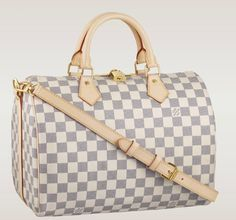 Louis Vuitton Speedy Bandouliere 30 Damier Azur Canvas N41001
