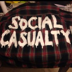 Social casualty flannel by angelasbrashop on Etsy I NEEEEEDDDD THISSS<<NEEEEEEEEEEEED