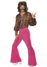 60er 70er #Hippie #Kostüm Peace blau-pink-gelb