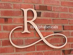 Initials Monogram Wooden Family Name Hanging Wall Letters Home Decor Housewares Room Decor Alphabet ABC (Click photos to see all styles.) via Etsy