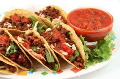 Truly Terrific Tacos Recipe : Try this quick, easy and delicious taco recipe. The tacos are low in fat compared to traditional Mexican taco recipes because they use veggie burger filling instead of beef. Taco Seasoning Mix Recipe, Seasoning Mixes, Taco Sauce, Mexican Seasoning, Mexican Dishes, Mexican Food Recipes, Comida Tex Mex, Carne Adobada, Chicharrones