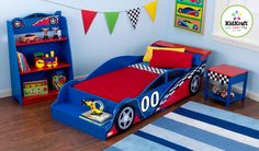 Racecar Room.  Just finished sewing a banner like this one for my little boy's room.  A fun and easy project that turned out really cute!