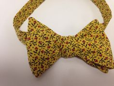 A personal favorite from my Etsy shop https://www.etsy.com/listing/235693290/mustard-spice-mens-self-tie-bowtie