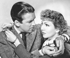Jimmy with Claudette Colbert in 'It's A Wonderful World' (1939)