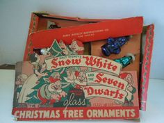 A RARE SET OF DOUBL-GLO SNOW WHITE AND THE SEVEN DWAERFS, BOX IS IN BAD SHAPE BUT STILL THE FRONT FLAP IS NICE, SNOW WHITE , IS BROKE, ,DOPEY IS GONE , SLEEPY IS GOOD , GRUMPY IS GOOD, BASEFUL IS GOOD, DOC IS GOOD BUT A SMALL PAINT ISSUE SPOT WHICH I SHOW ,HAPPY IS BROKE,SNEEZY IS GOOD, FIVE GOOD ONES EACH IS ABOUT 4 INCHES