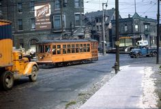 Paul Ave, looking northwest. the street car & the blue truck is turning south onto heading to the viaduct. Milwaukee Skyline, Milwaukee Wisconsin, Busses, Local History, North West, Scale Models, Turning, Transportation, Truck