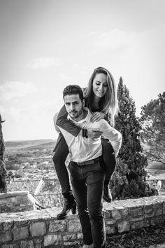 Photo de couple avec Adélaïde et Samuel