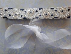Excited to share the latest addition to my #etsy shop: Bridal sash belt, Wedding belt, Silver rhinestone belt, Bridal dress belt, Bridal sash, Embroidered sash belt, Silver and Navy belt http://etsy.me/2F3a4FH #weddings #accessories #silver #blue #bridalbelt #sash #bri