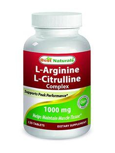 Best Naturals LArginine LCitrulline Complex 1000 mg 120 Tablets ** For more information, visit image link.