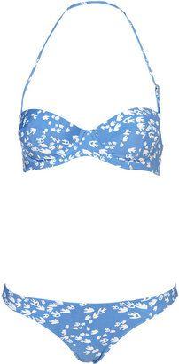 ShopStyle: Blue Bird Print Push Up Bikini