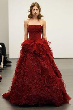 The modern red wedding dress
