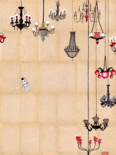 Sky of Chandeliers: By Delphine Lebourgeois