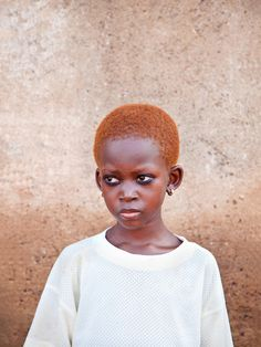 Young Northerner Girl with Natural Copper Hair Tamale Ghana.  by Myles Kwesi Hutchful