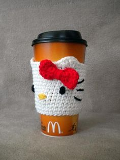 Hello Kitty inspired Coffee Cozy