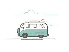 Line illustration - vector   van