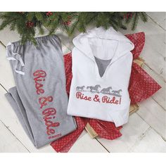 Rise And Ride Lounge Pants - Horse Themed Gifts, Clothing, Jewelry and Accessories all for Horse Lovers | Back In The Saddle