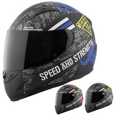 Speed and Strength SS1100 Urge Overkill Motorcycle Street DOT Helmets