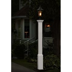 new england arbors madison lamp post in white. Black Bedroom Furniture Sets. Home Design Ideas