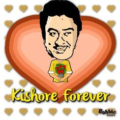 #kishorekumar  happy bdy kishore kumar   http://bobble.in/kratika  click ths link nd create more stickers