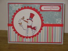 Cute snowman with Stampin up  easy & fu n