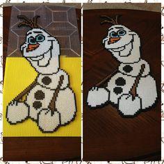 Olaf from Frozen perler bead sprite by jnjfranklin on deviantART