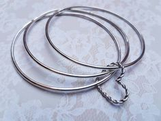 Sterling silver bracelet silver bangle silver by CLGJewellery