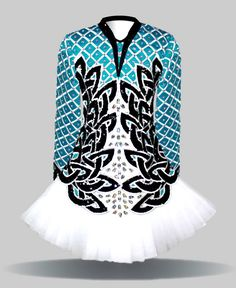 Like everything about this one...color, shape, and neck, symmetrical design. Sara is so-so on skirt Morris Dancing, Celtic Dress, Irish Dance, Irish Step Dancing, Dance Photography, Dance Art, Dance Outfits, Dance Dreams, Dance Fashion