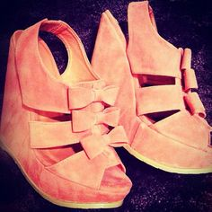 so in love these are amazing #wedges #heels #pink #pretty