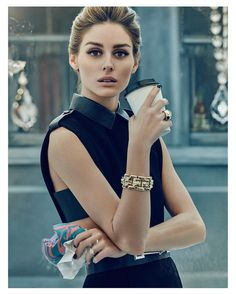 Olivia Palermo by An Le for 57 Magazine | Look 1: Dress & Belt from Albright Fashion Library; Broach by Erickson Beamon; Bracelet and rings Olivia's own vintage
