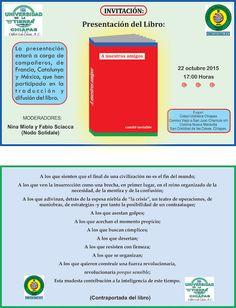 """CIDECI-UNITIERRA CHIAPAS INVITA A LA PRESENTACIÓN DEL LIBRO: """"A NUESTROS AMIGOS"""""""