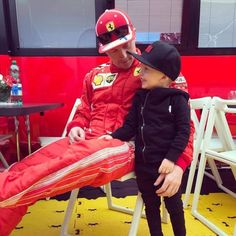 Kimi with his son Robin. Red Bull Racing, F1 Racing, Mick Schumacher, The Iceman, Formula E, Thing 1, Ferrari F1, F1 Drivers, Indy Cars
