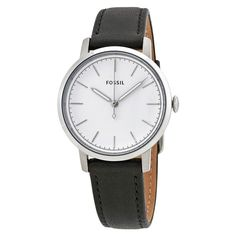 Fossil Women's ES4186 Neely White Dial Black Watch