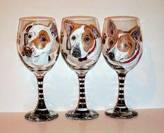 Pet Portraits Custom Hand Painted Set of 3 by SharonsCustomArtwork