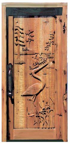 Door - Great Blue Heron Scene - Craigdarroch Castle - 6006HC