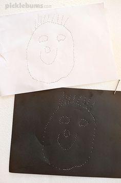 Pin Prick Drawing