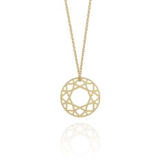 The cut of the diamond displays maximum brilliance and fire and that is the inspiration behind the brilliant diamond necklace. £66 #geometric #designer #jewellery #contemporary #London #NudeJewellery
