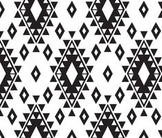 ** B&W aztec fabric